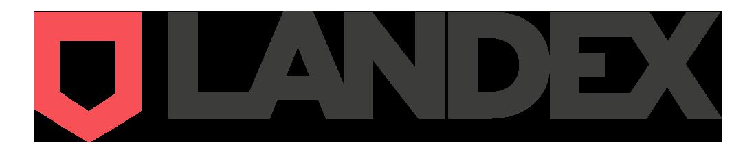 Valores y Logo Landex primera plataforma de compra venta de terrenos urbanos 1100x225