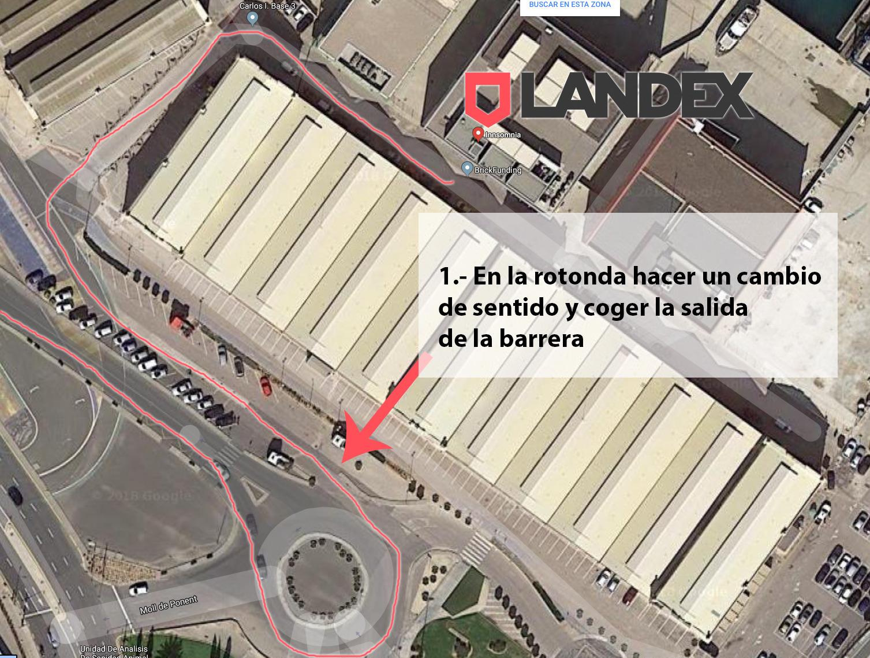 mapa LANDEX. Cómo llegar al edificio Innsomnia en Valencia
